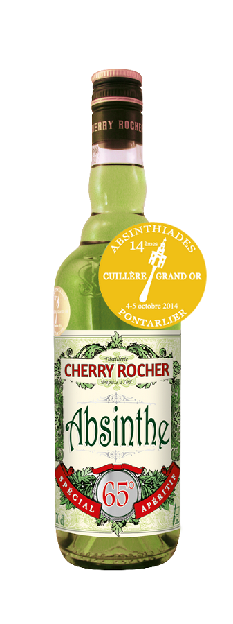 ABSINTHE GRAND OR Cherry Rocher 65% | Absinthe Traditionnelle