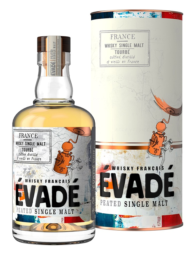 ÉVADÉ Peated Single Malt 43% | Whisky Français Tourbé