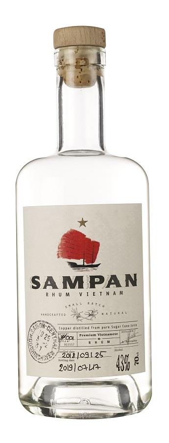 SAMPAN Pur Jus de Canne 43% | Rhum Blanc Vietnamien