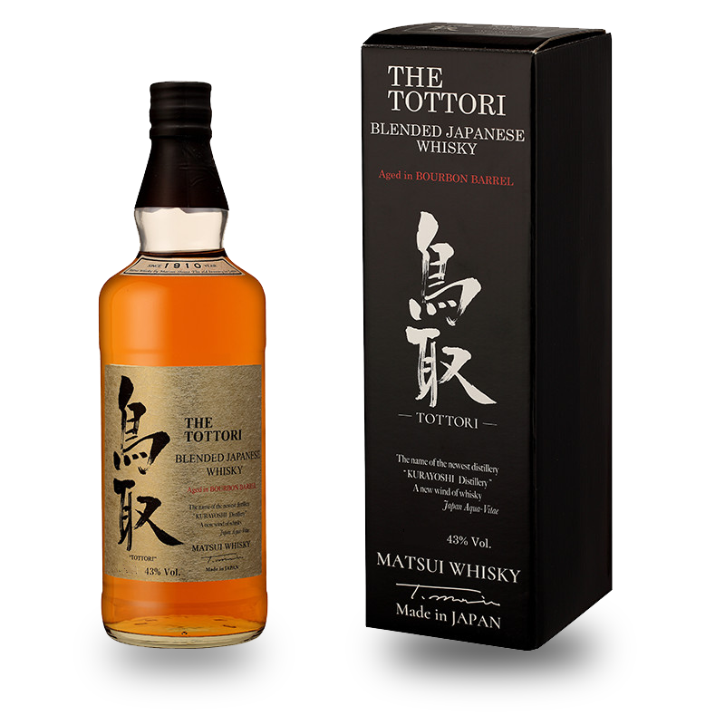 THE TOTTORI Blended Aged in Bourbon barrel 43% | Whisky Japonais