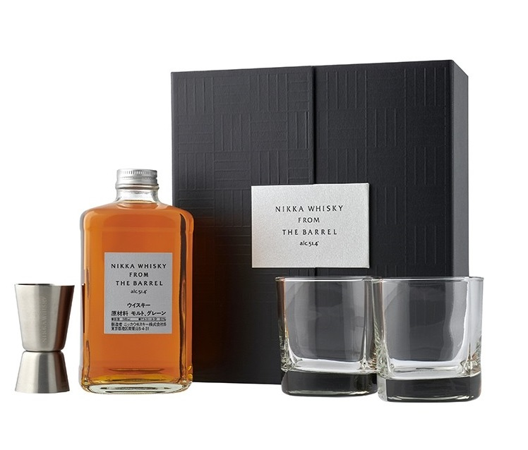 NIKKA From the Barrel 2 Verres + 1 Tasse à Mesurer (Jigger) 51.4% | Coffret Dégustation Whisky Japonais