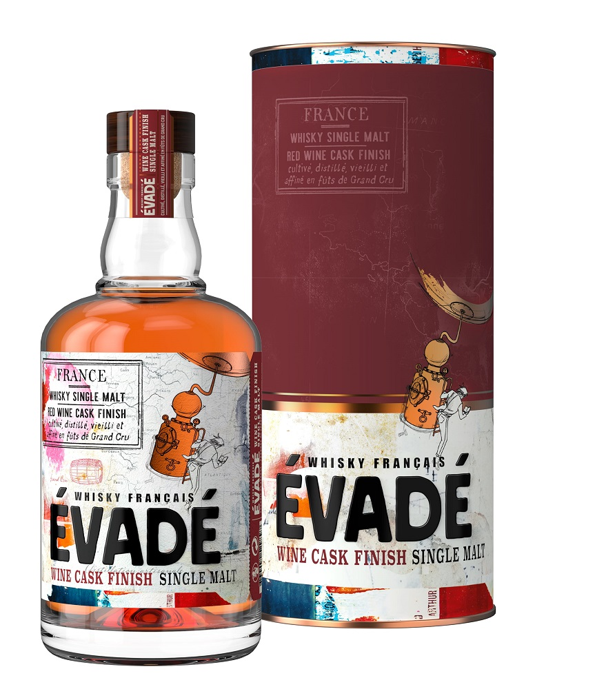 ÉVADÉ Single Malt Red Wine Cask Finish 43% | Whisky Français