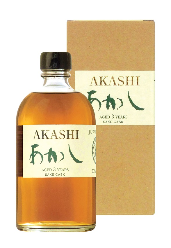 AKASHI Saké Cask 3 ans 50 % | Single Malt Whisky Japonais