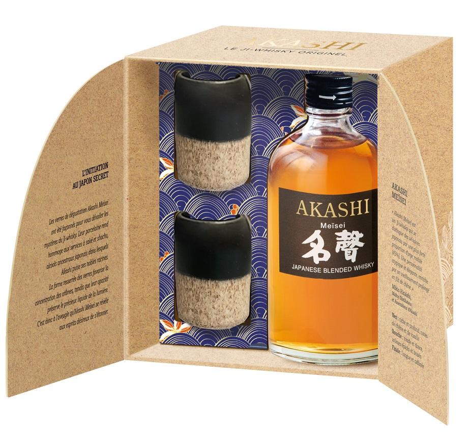 AKASHI Meïsei 2 verres en Porcelaine | Coffret Whisky Japonais