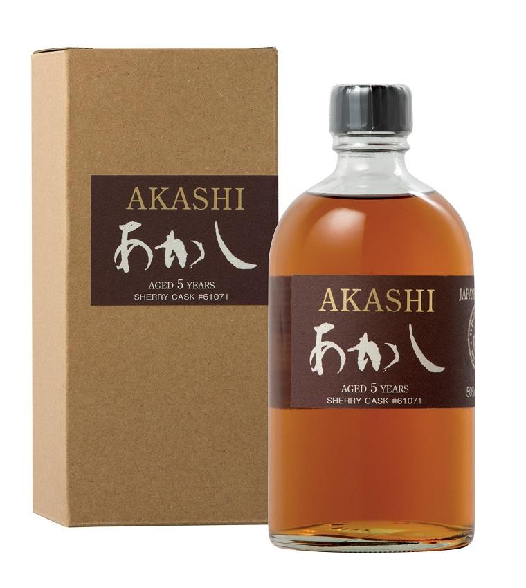 AKASHI Sherry Cask 5 ans 50% | Whisky Japonais légèrement Tourbé