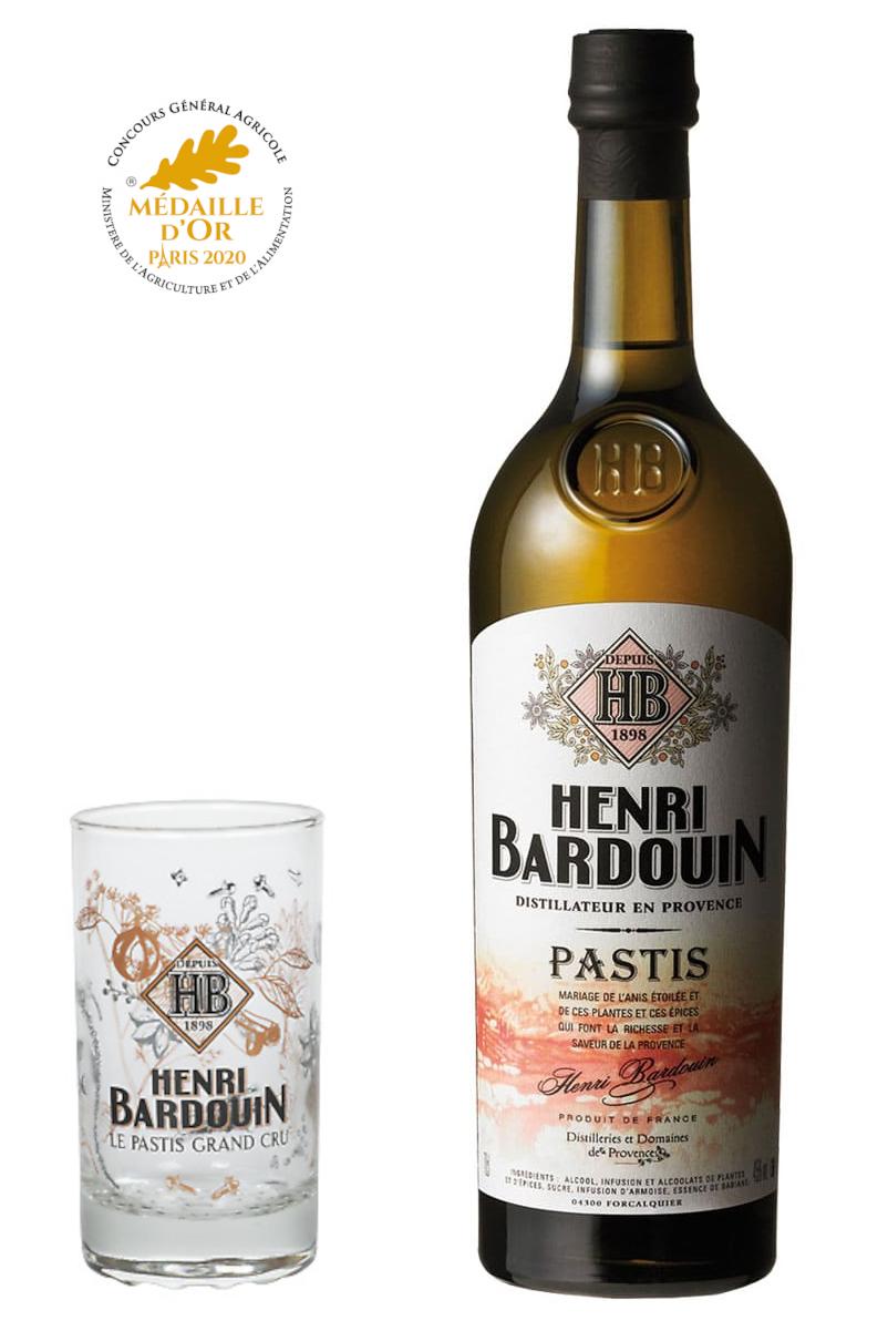 HENRI BARDOUIN 45% + 1 verre offert | Pastis Traditionnel