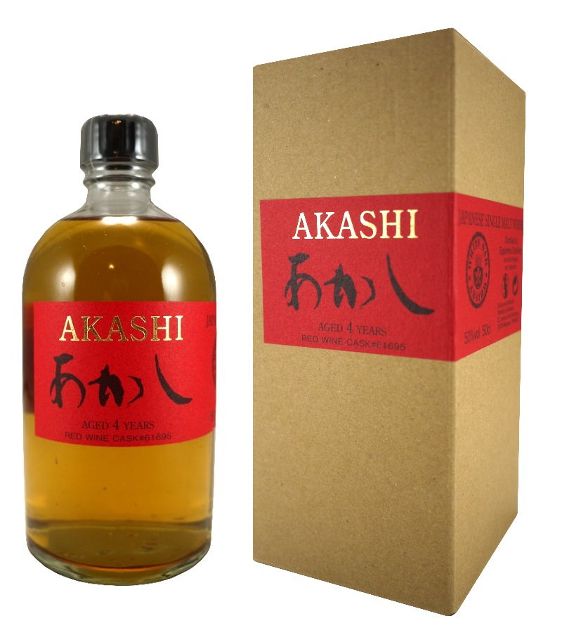 AKASHI 4 ans Red Wine Cask 50% | Whisky Japonais