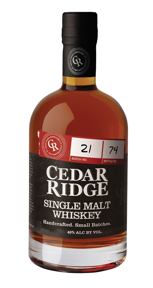CEDAR RIDGE Single Malt Whiskey 40 % | Whisky Américain