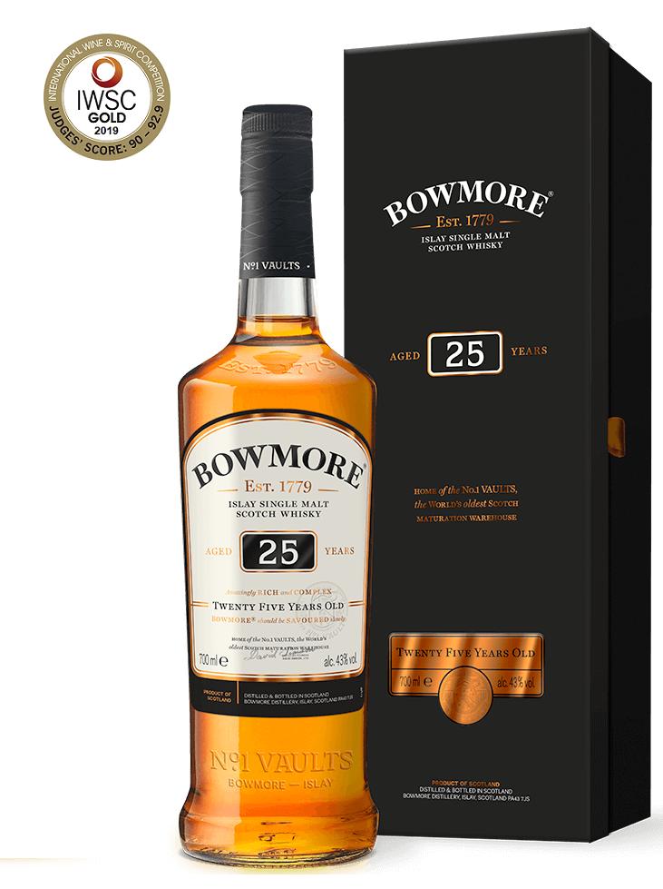 BOWMORE 25 ans 43% | Whisky Tourbé