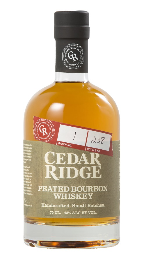 CEDAR RIDGE Peated Bourbon 43 % | Whisky Américain Tourbé