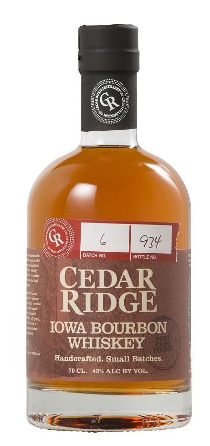 CEDAR RIDGE Iowa Bourbon Whiskey 43% | Whisky américain