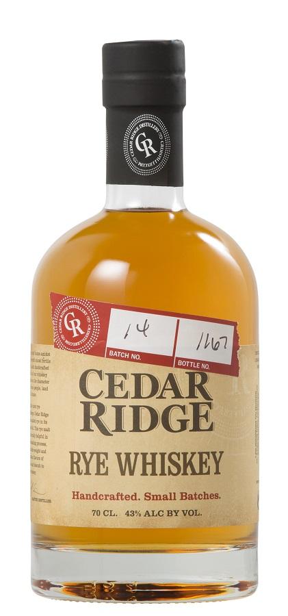 CEDAR RIDGE Rye Whiskey 43% | Whisky Américain