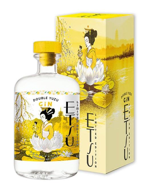 ETSU Double Yuzu 43% | Gin Japonais Artisanal