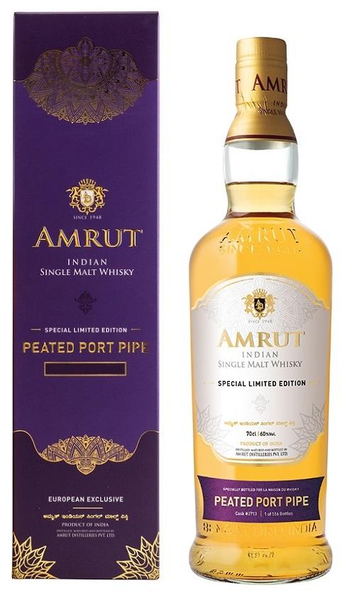 AMRUT Peated Port Pipe 60% Edition Limitée 2021 | Whisky Indien Tourbé