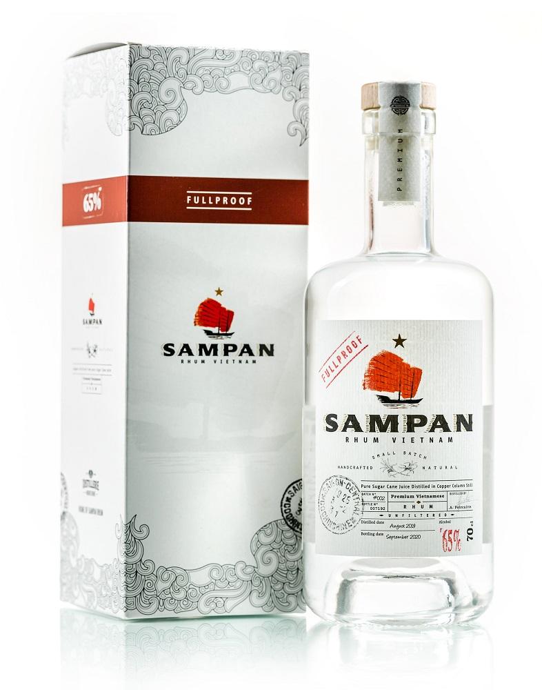 SAMPAN Fullproof Pur Jus de Canne 65% | Rhum Blanc du Vietnam