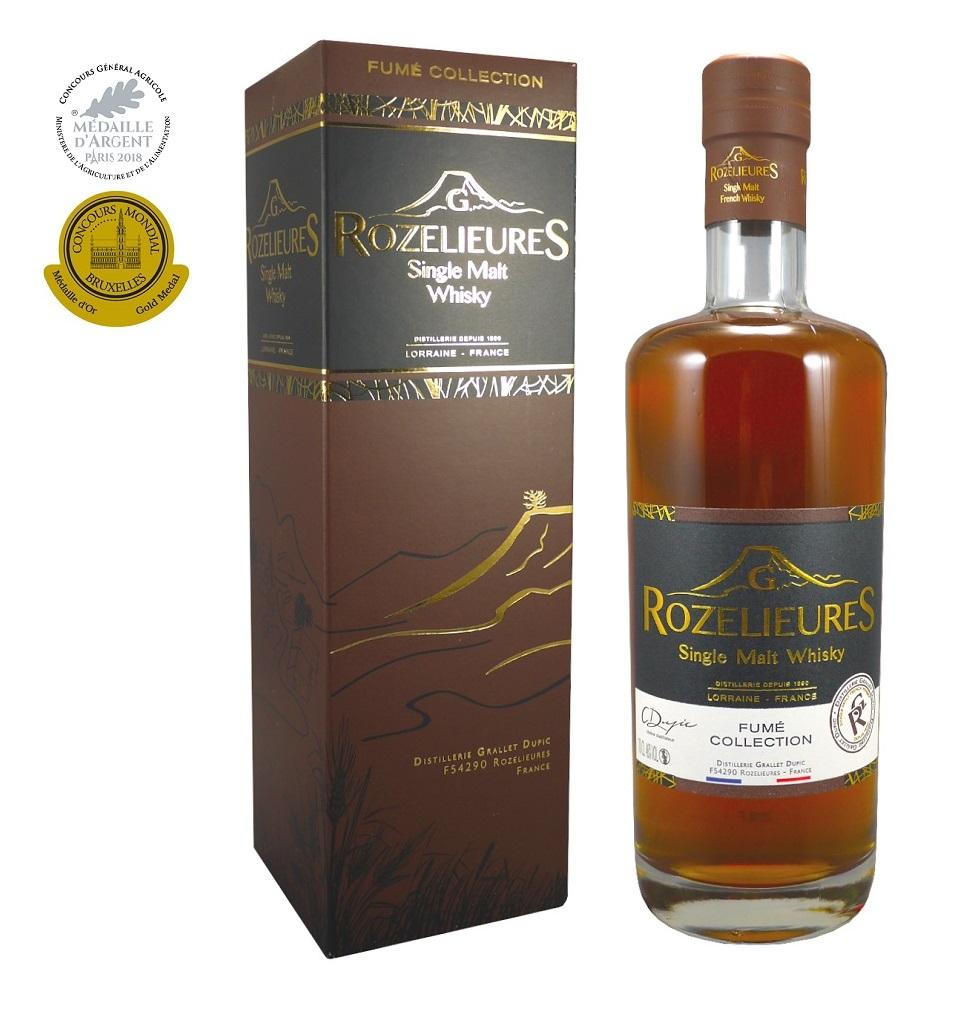 ROZELIEURES Fumé Collection Single Malt 46 % | Whisky Français