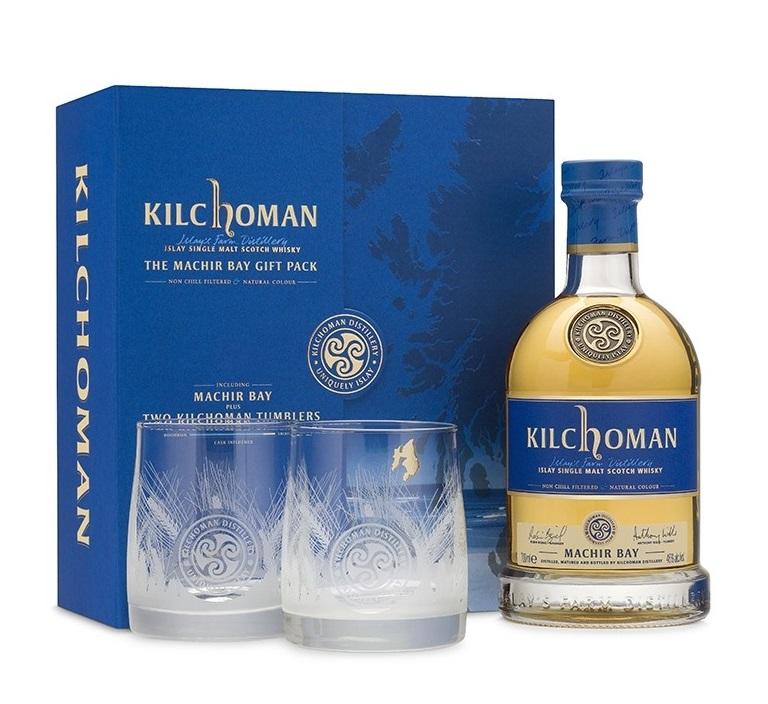 KILCHOMAN MACHIR Bay 46% + 2 verres inclus  Coffret Dégustation Whisky Tourbé