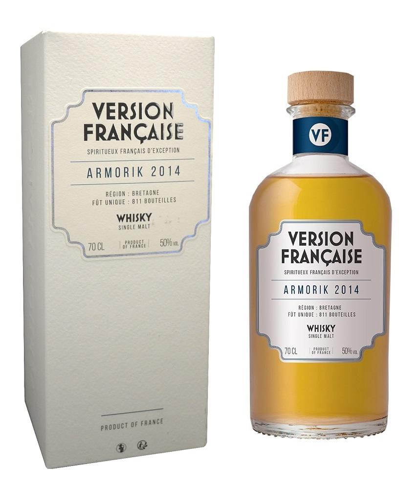 ARMORIK 2014 Version Française 50%   Whisky Breton Tourbé
