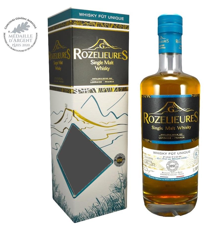 ROZELIEURES Finition HSE 43% | Edition Limitée | Whisky de Lorraine