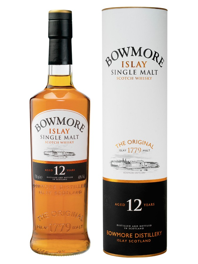 BOWMORE 12 ans 40 % | Single Malt Whisky Tourbé, Islay