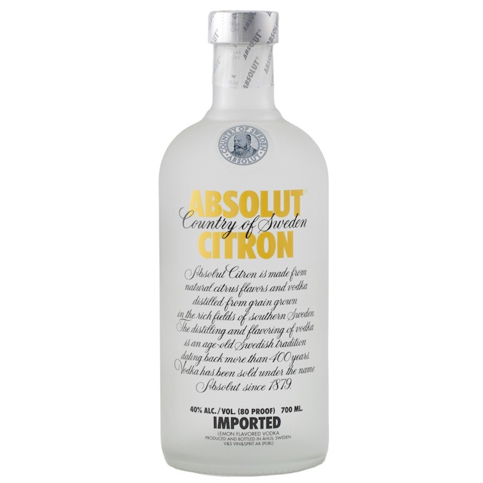 ABSOLUT Citron 40% | Vodka Aromatisée