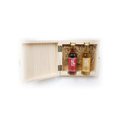 KAVALAN BOURBON & SHERRY CASK COFFRET BOIS 2 MIGNONNETTES 57%