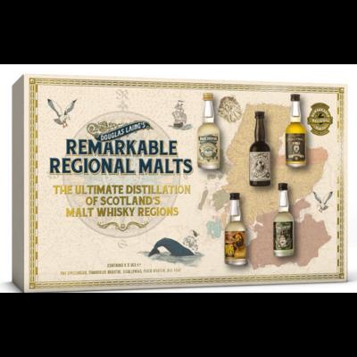 REMARKABLE REGIONAL MALTS Coffret 5 x 5 cl D.Laing 46,4%