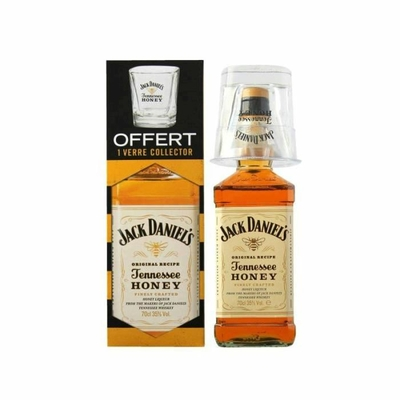 jack daniel 39 s honey 1 verre offert heritage whisky. Black Bedroom Furniture Sets. Home Design Ideas