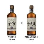 [PACK] Yoichi et Miyagikyo 10 ans 45%