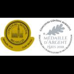 Médaille or argent du whisky  ROZELIEURES Fumé Collection Single Malt 46 % | Whisky Français
