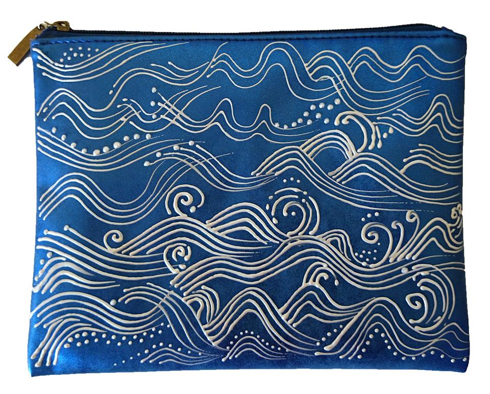 Pochette vinyle bleu Vagues