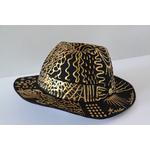 Chapeau Abstrait Or décoré à la main_01