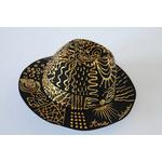 Chapeau Abstrait Or décoré à la main_03