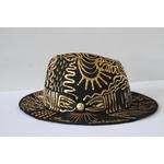 Chapeau Abstrait Or décoré à la main_07