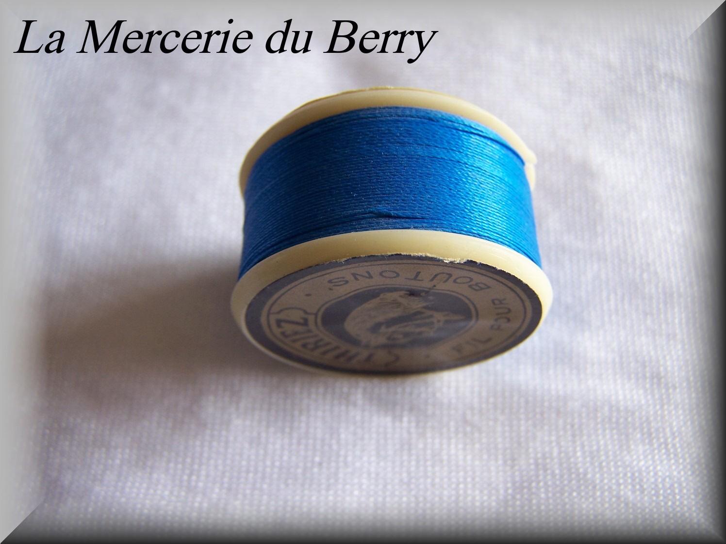 Fil à boutons, bleu roy