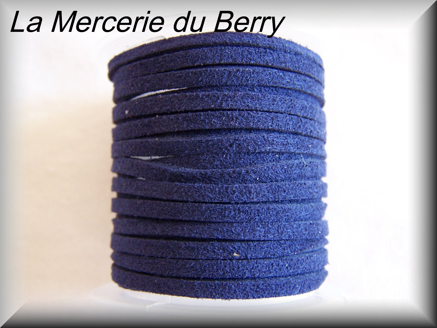Lacet daim, bleu marine