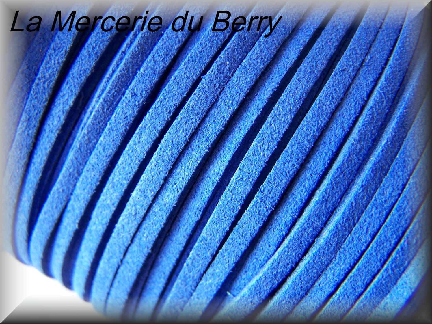 Imitation daim, bleu