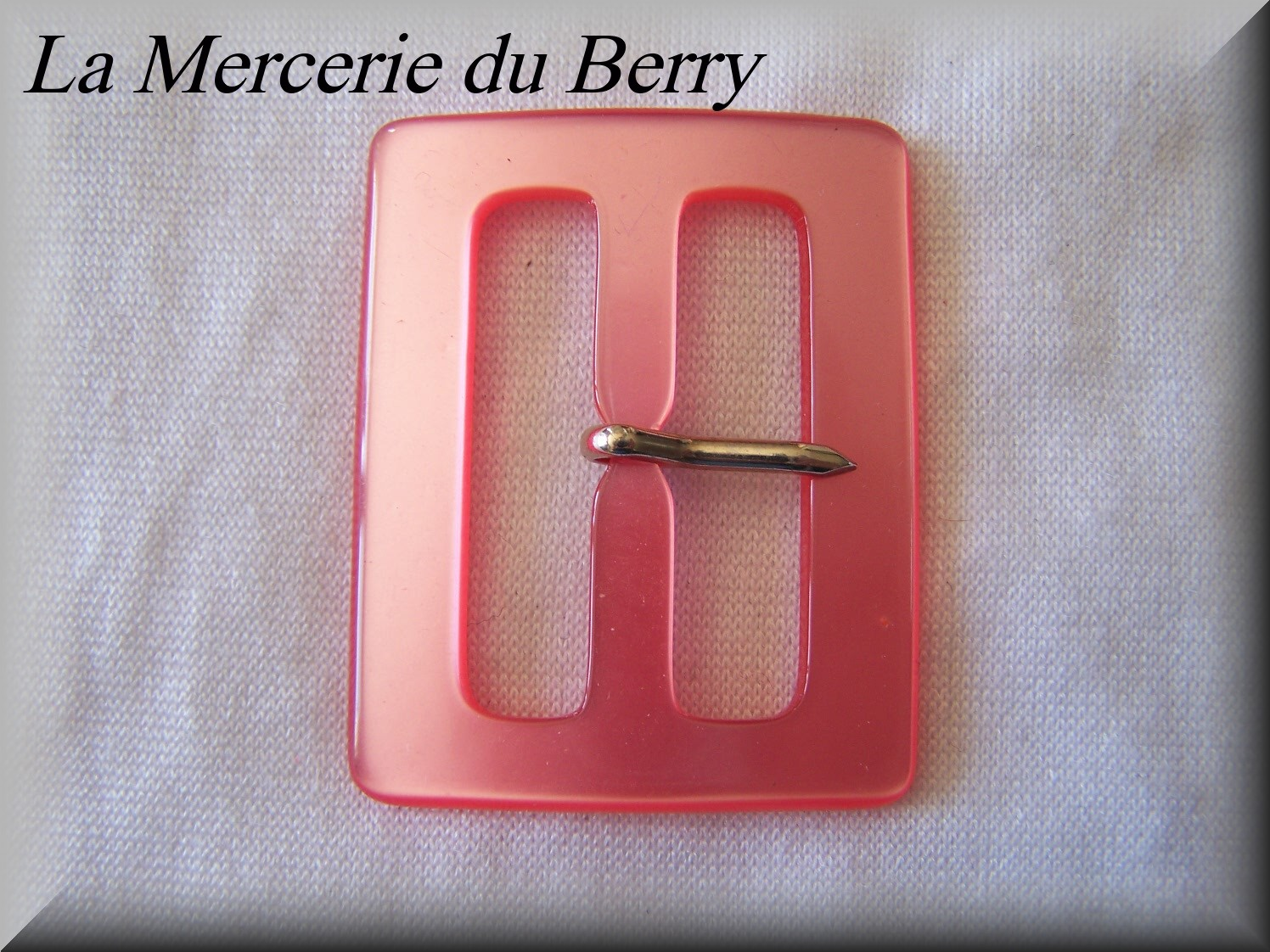 Boucle de ceinture, rose, 53 x 42 mm
