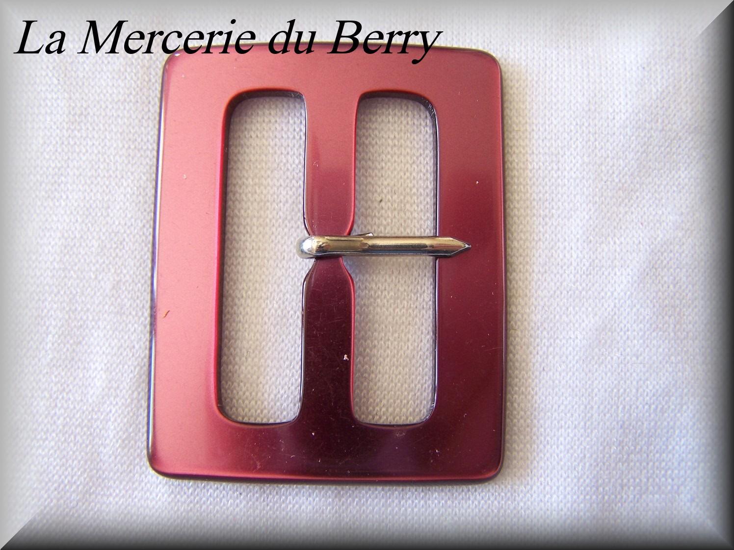 Boucle de ceinture, bordeaux, 53 x 42 mm
