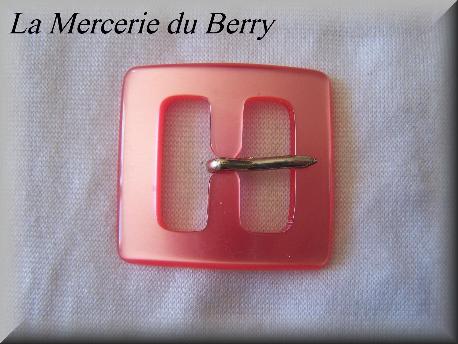 Boucle de ceinture, rose, 39 x 40 mm