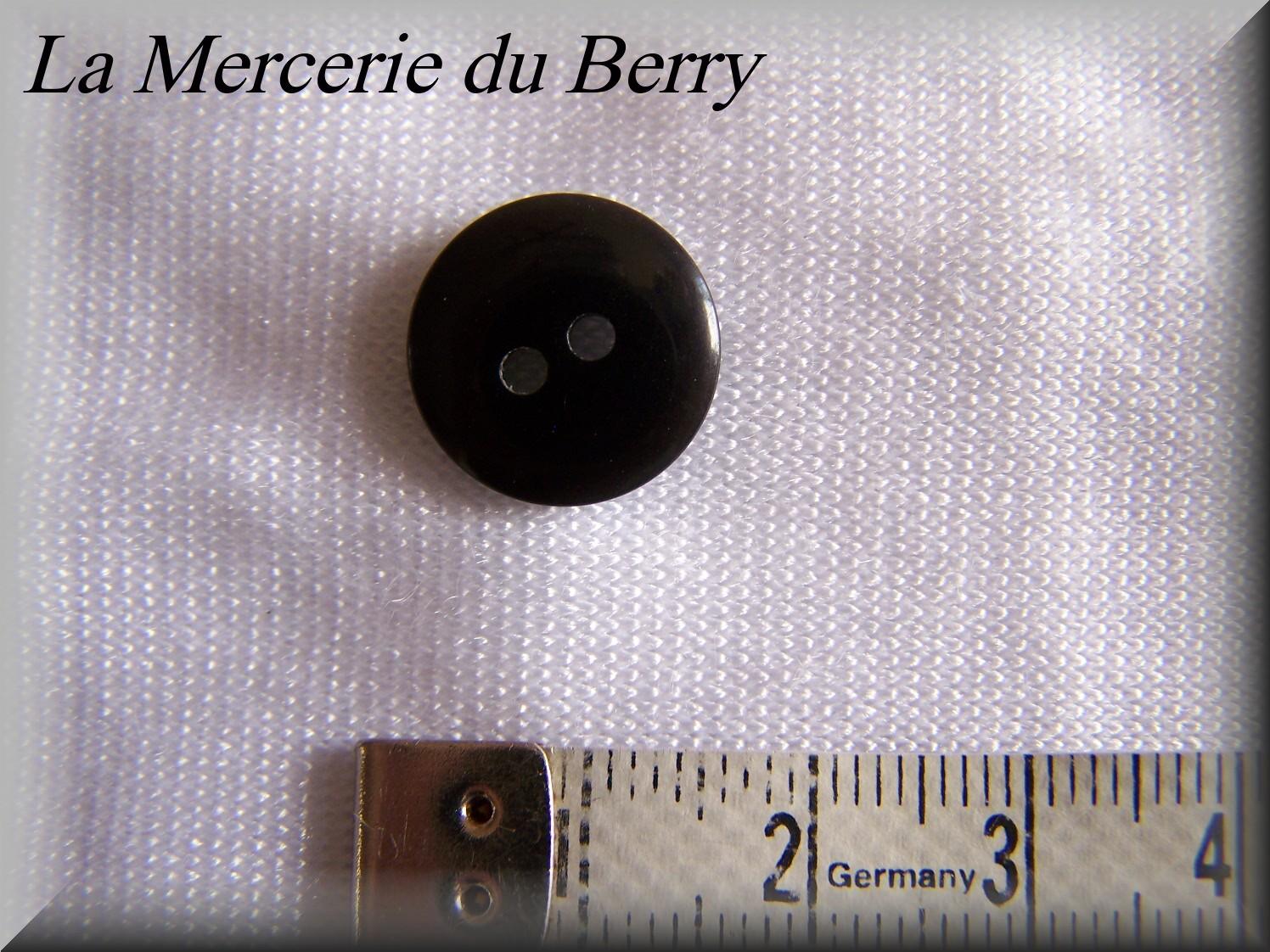 Bouton noir, 14 mm
