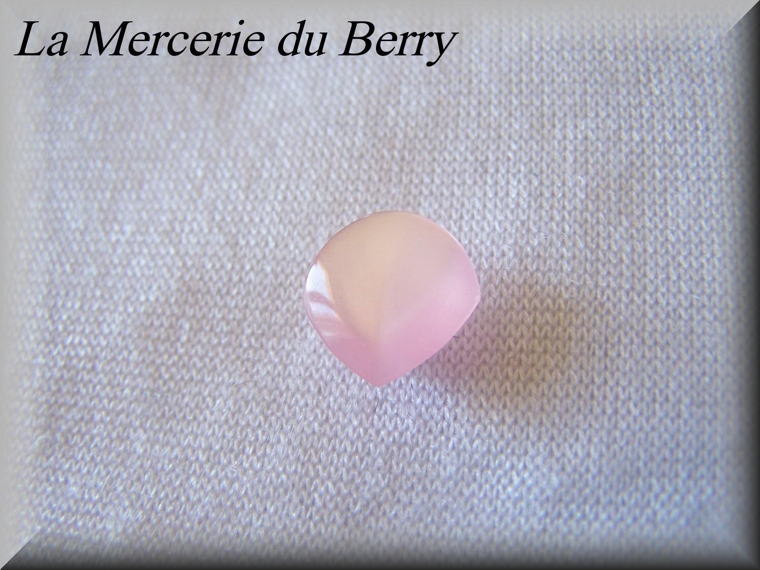 Bouton rose, 12 mm