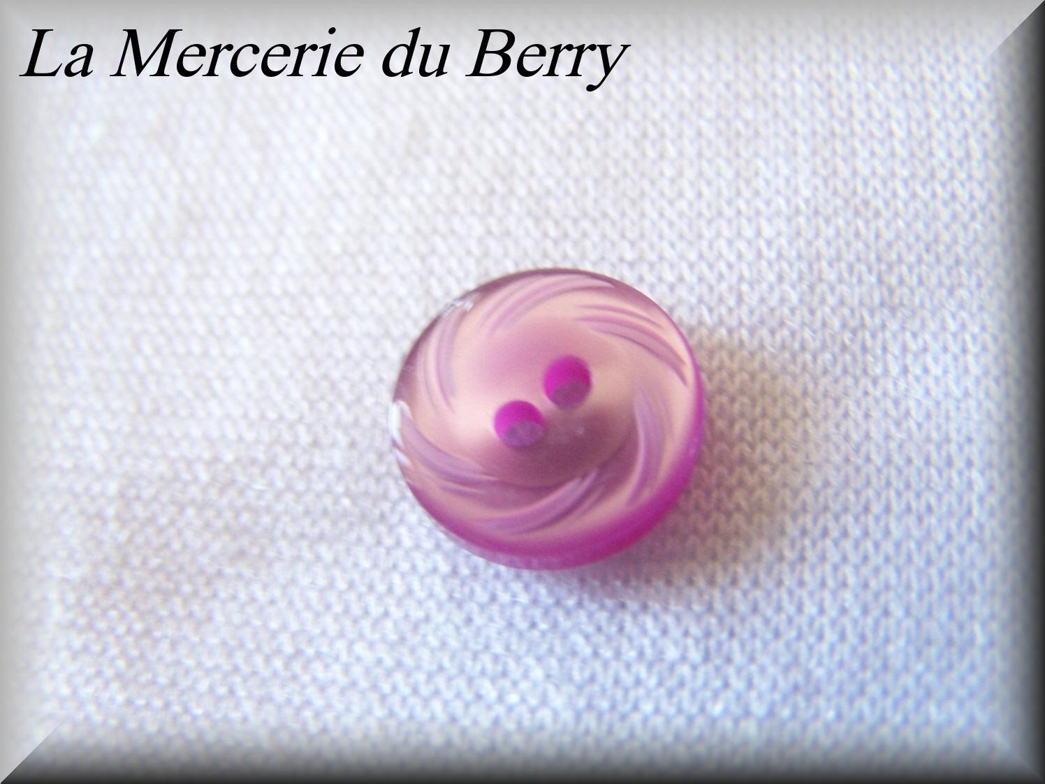 Bouton violet 12 mm