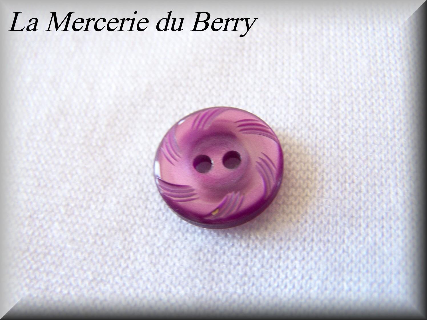 Bouton violet 14 mm