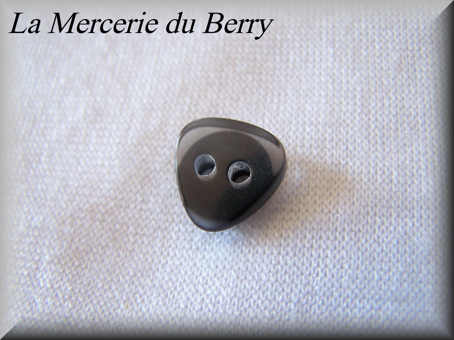Bouton noir 14 mm
