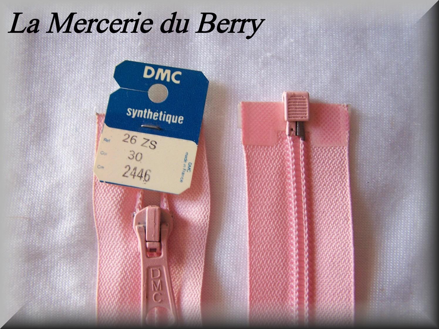 Fermeture à glissière, nylon, rose