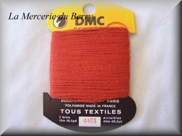 Coton à repriser, brique