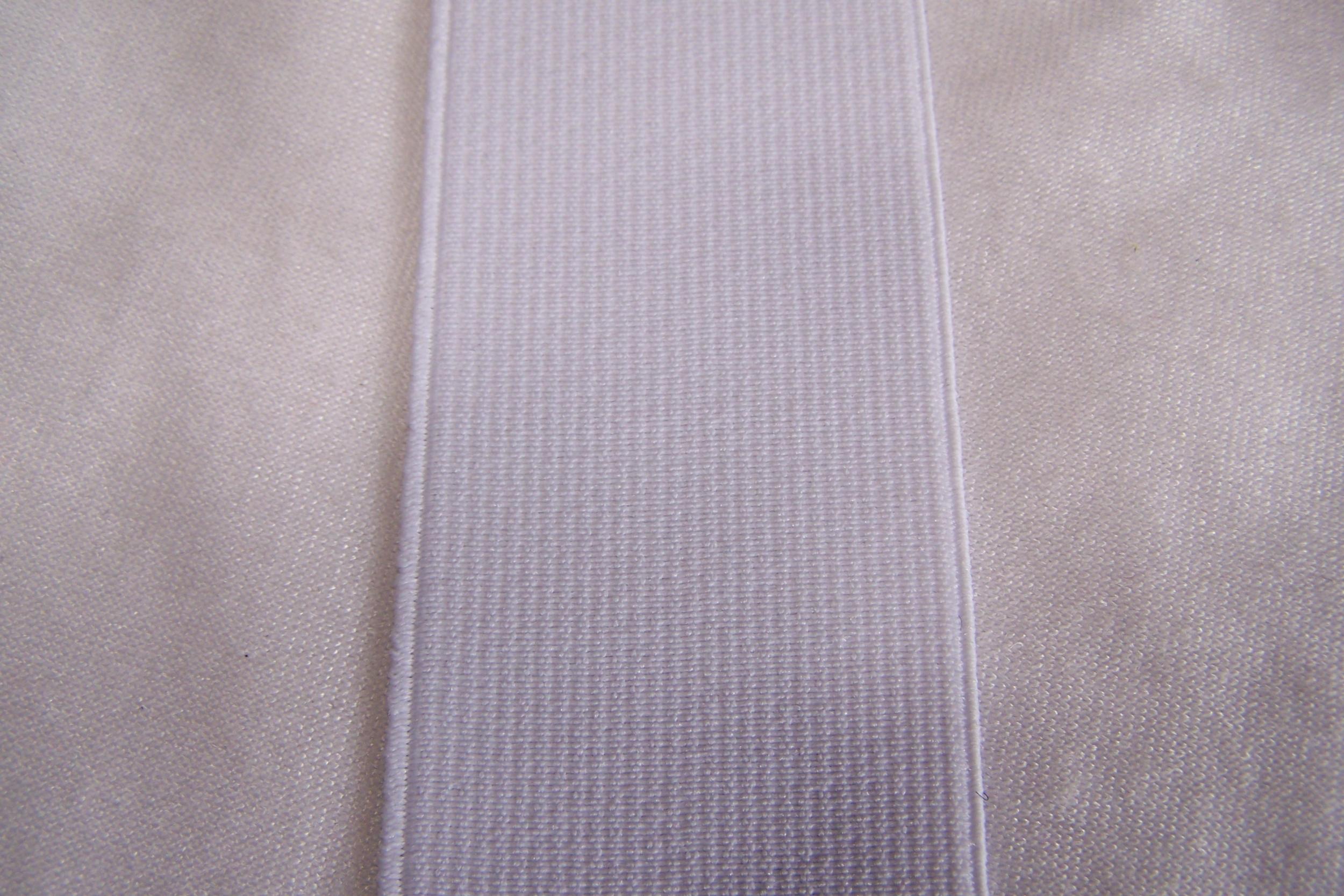 Ruban élastique, blanc