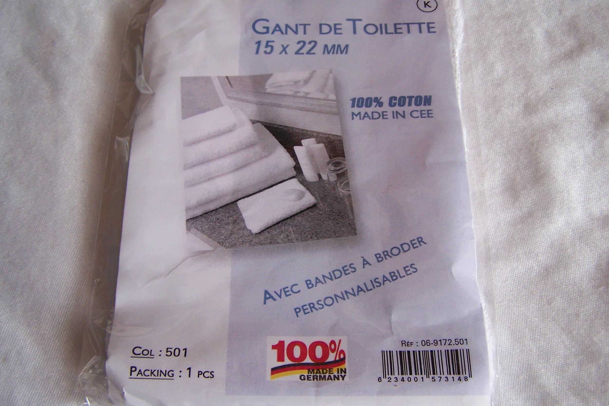Gant de toilette, blanc