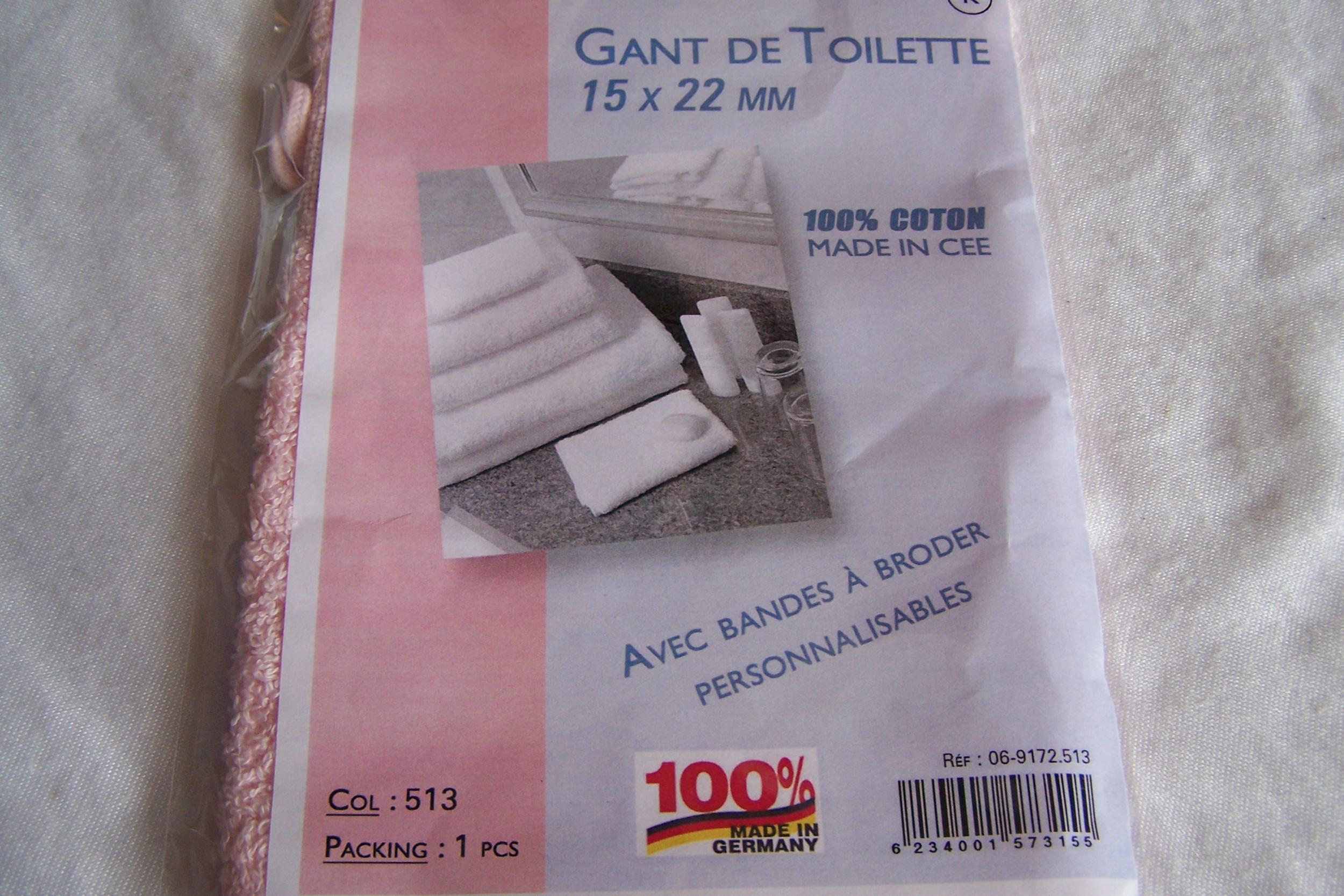 Gant de toilette, rose